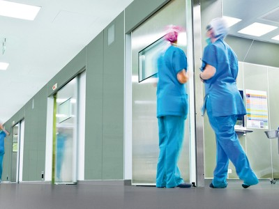 Hygienic Wall Cladding from Altro used in a hospital