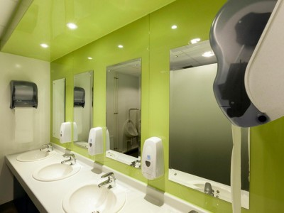 Hygienic Wall covering used in customer toilets