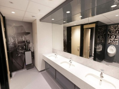 Bespoke Hygienic Wall coverings used in customer toilets
