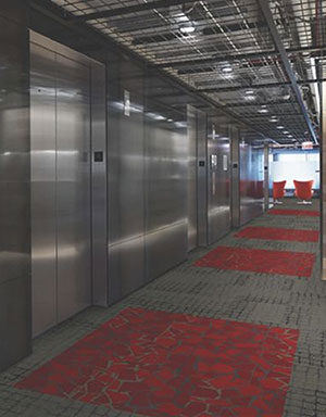Carpet tiles for social distancing