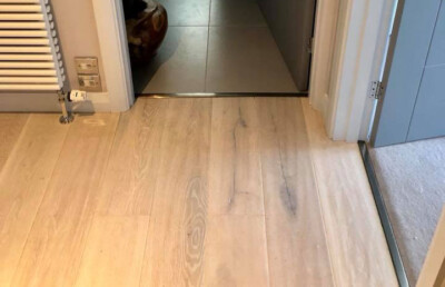 Wooden Floor fitted with pewter trims