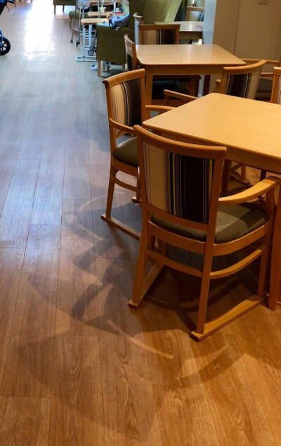 Moduleo Luxury Vinyl flooring in an Exeter care home