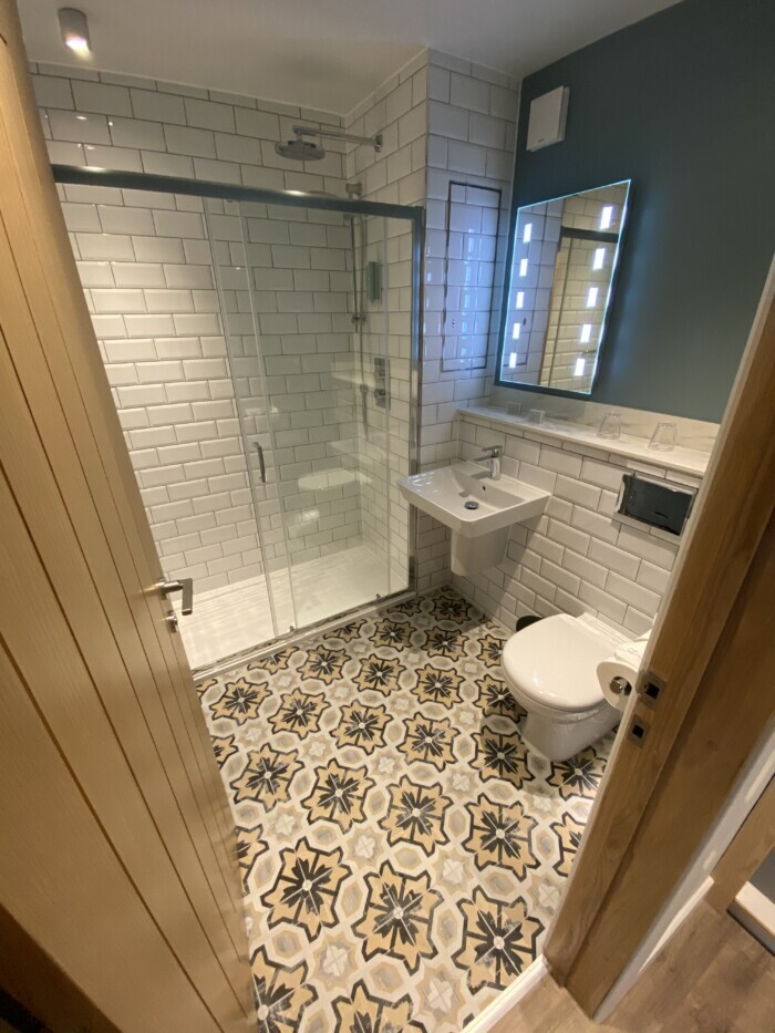 Bathroom Tiling in Cornwall Hotel
