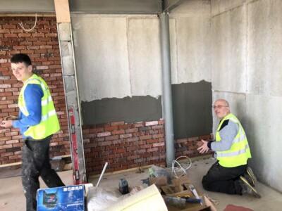 Flooring Matters Staff working on a Pub